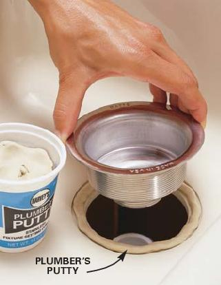 Using Plumbers Putty On Kitchen Faucet